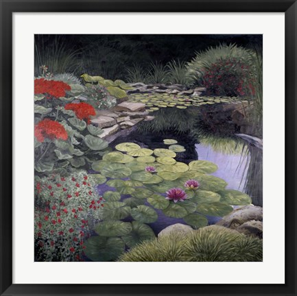 Framed Lily Pond Print