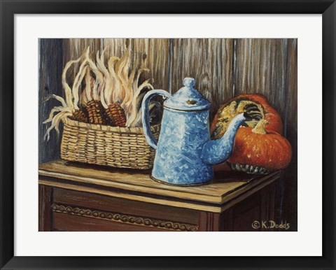 Framed Autumn Corn Print