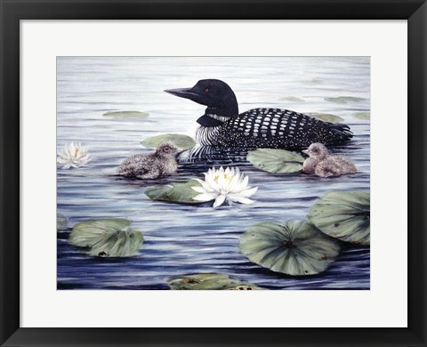 Framed In the Lilies Print