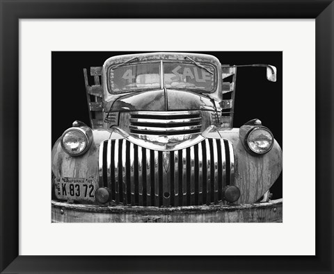 Framed Chev 4 Sale - Black and White Print