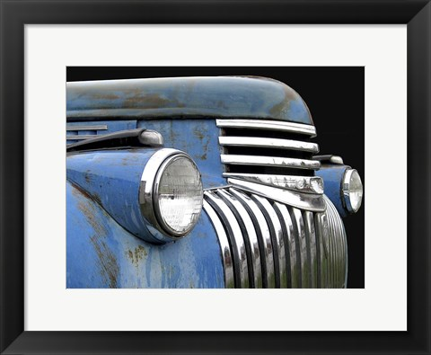 Framed Chevy Grill Blue Print