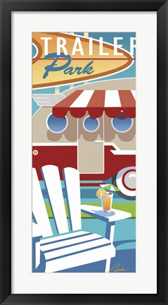 Framed Trailer Park Print