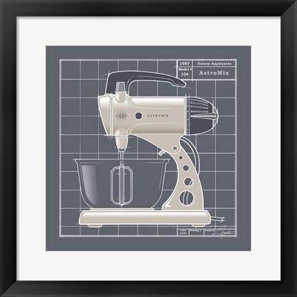 Framed Galaxy Mixer - Ivory Print
