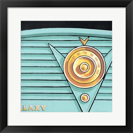 Framed Galaxy Radio - Aqua Print