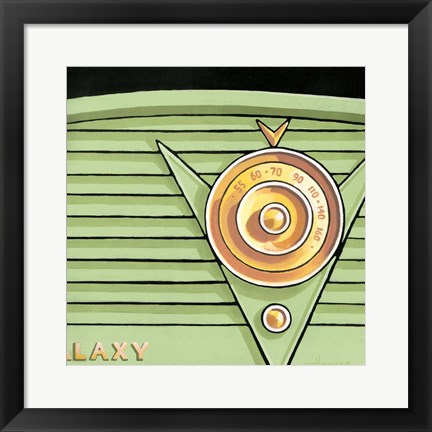 Framed Galaxy Radio - Green Print