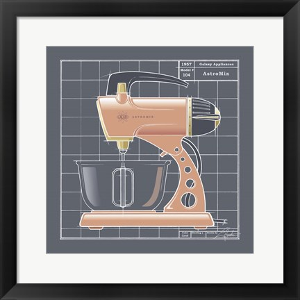 Framed Galaxy Mixer - Coral Print