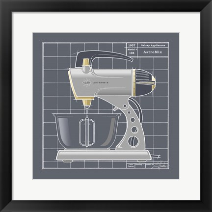 Framed Galaxy Mixer - Pewter Print