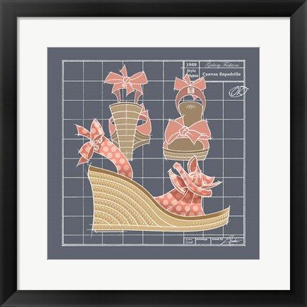 Framed Galaxy Shoes - Espadrille Coral Dot Print