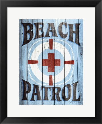 Framed Beach Patrol Print