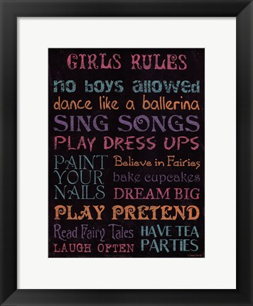 Framed Girl's Rule Print