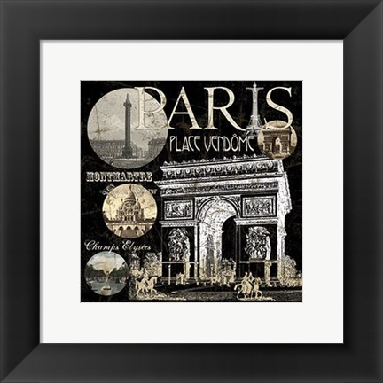 Framed Metro Paris Ii Print