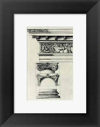 Framed Anonymous - English Architectural IV Print