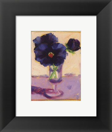 Framed Purple Pansies Print