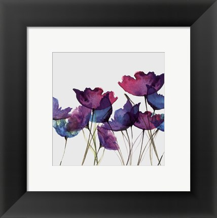 Framed Watercolor Garden 2 Print