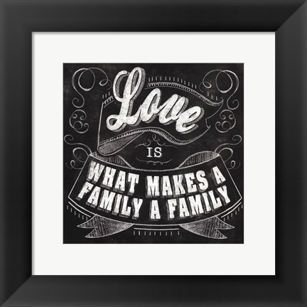 Framed Chalkboard - What Makes A Fami Print