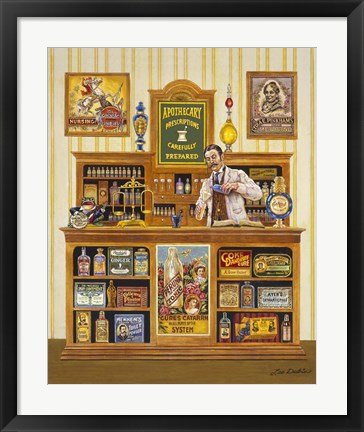 Framed Apothecary Print