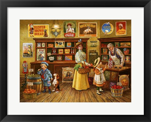 Framed Country Store Print