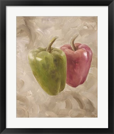 Framed Sweet Peppers I Print