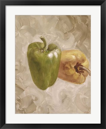 Framed Sweet Peppers II Print