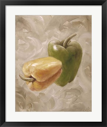 Framed Sweet Peppers IV Print