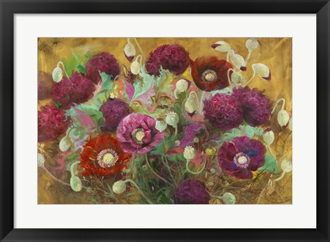 Framed Poppies and Peonies Print