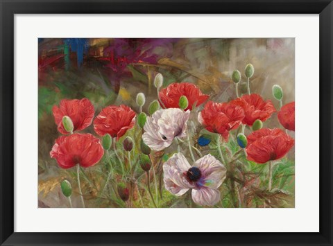 Framed Poppies III Print