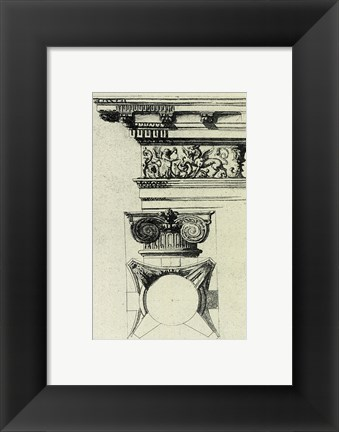 Framed Anonymous - English Architectural III Print