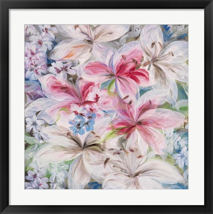 Framed Lily Patch Print