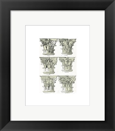 Framed English Architectural VI Print