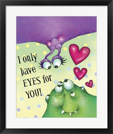Framed Eyes Print