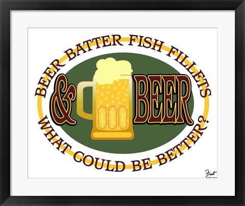 Framed Beer Batter Fish Fillets Print