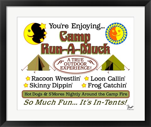 Framed Camp Run-a-Muck Print