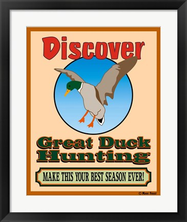 Framed Discover Duck Hunting Print