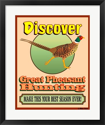 Framed Discover Pheasant Hunting Print