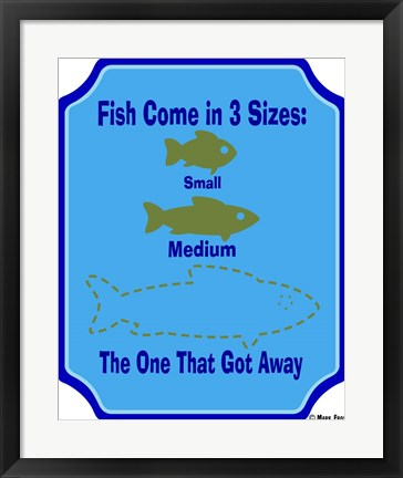 Framed Fish Are 3 Sizes Print