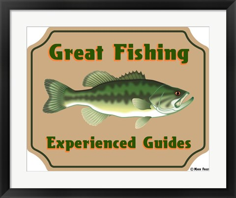 Framed Fishing Experienced Guides Print