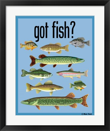 Framed Got Fish Print