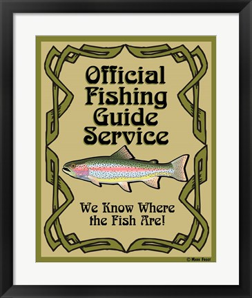 Framed Official Fishing Guide Print