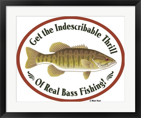 Framed Thrill Of Bass Fishing Print