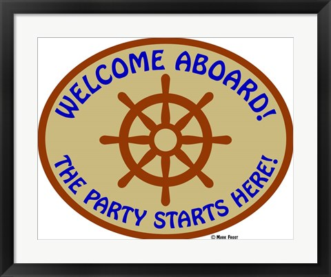Framed Welcome Aboard Party Print