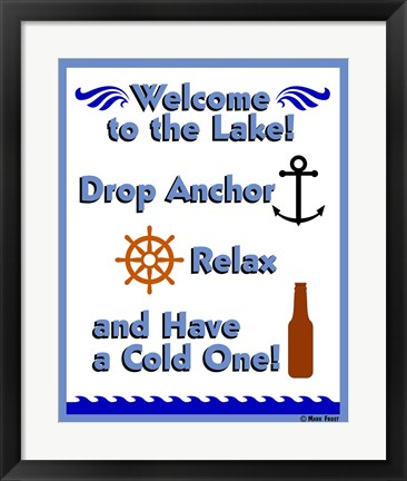 Framed Welcome Drop Anchor Print