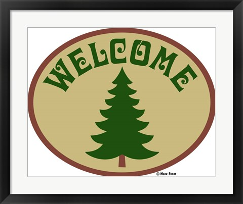 Framed Welcome Tree Print