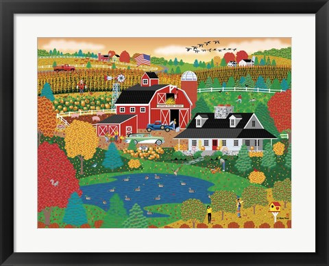 Framed Apple Pond Farm Fall Print
