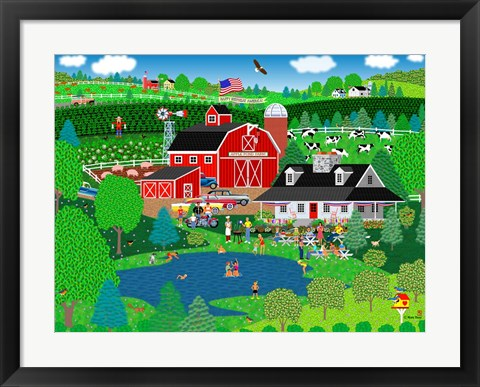 Framed Apple Pond Farm Summer Print