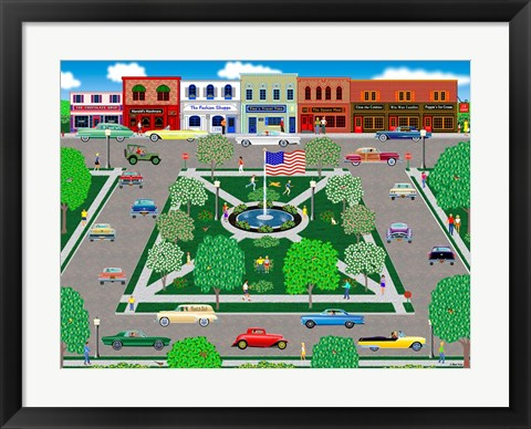 Framed Cruising The Square Print