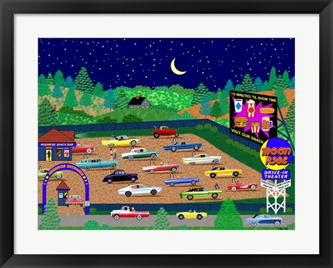 Framed Moonrise Drive-In Print