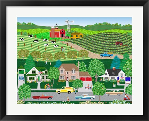 Framed Sunshine Grocery Print