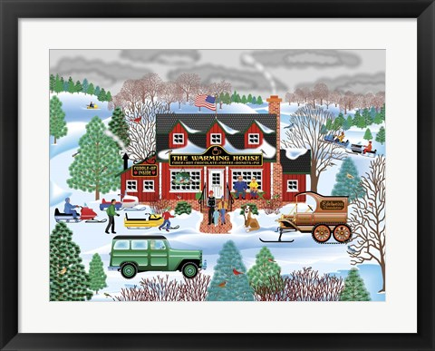 Framed Warming House Print