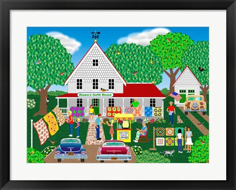 Framed Mama's Quilt House Print