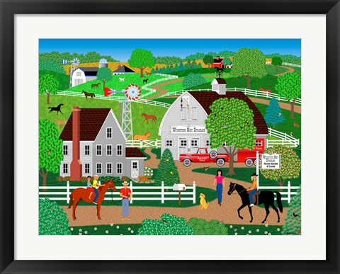 Framed Horse Country Print